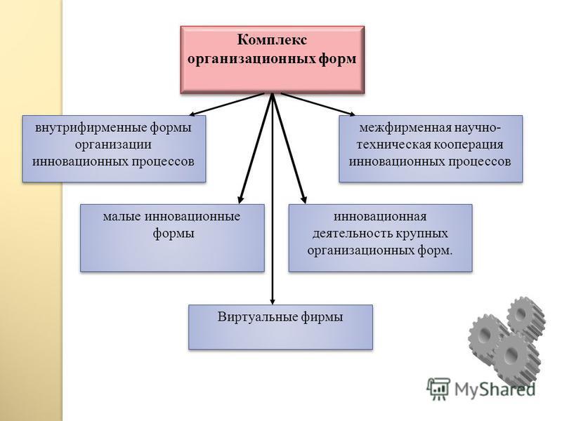 Организационные структуры инновационного менеджмента - организации, занимающиеся инновационной деятельностью, научными исследованиями и разработками.
