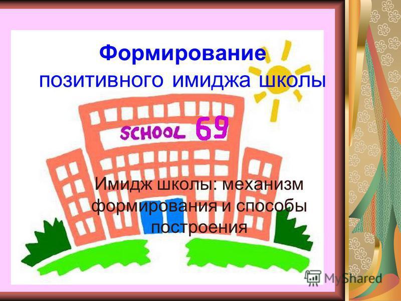 Формирование позитивного имиджа школы Имидж школы: механизм формирования и способы построения