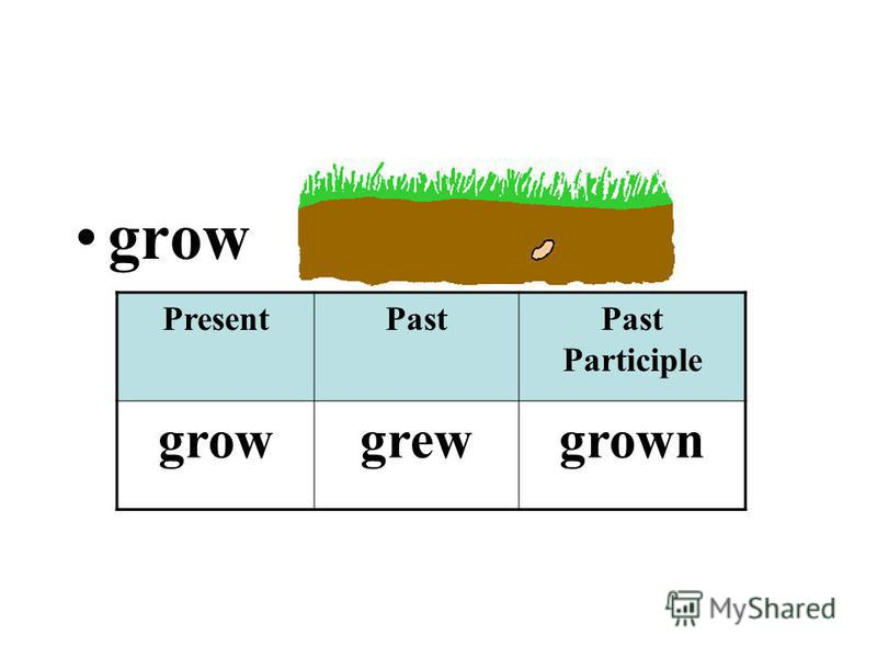 grow PresentPastPast Participle growgrewgrown