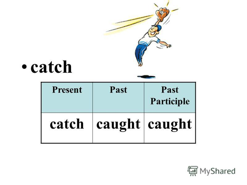 catch PresentPastPast Participle catchcaught