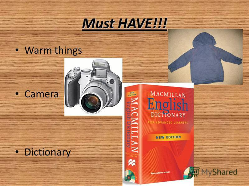 Must HAVE!!! Warm things Camera Dictionary