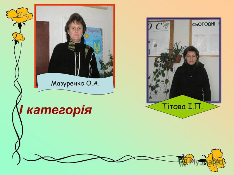 Тітова І.П. Ι категорія Мазуренко О.А.