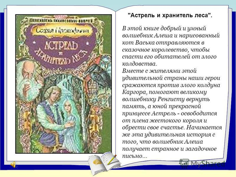 В этой книге добрый и умный волшебник Алеша и нарисованный кот Васька отправляются в сказочное королевство, чтобы спасти его обитателей от злого колдовства. Вместе с жителями этой удивительной страны наши герои сражаются против злого колдуна Каргора,