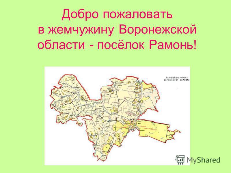 Добро пожаловать в жемчужину Воронежской области - посёлок Рамонь!