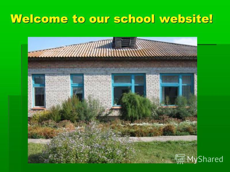 Welcome to our school website!