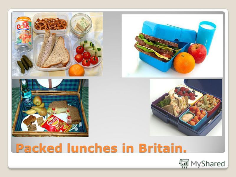 Packed lunches in Britain.