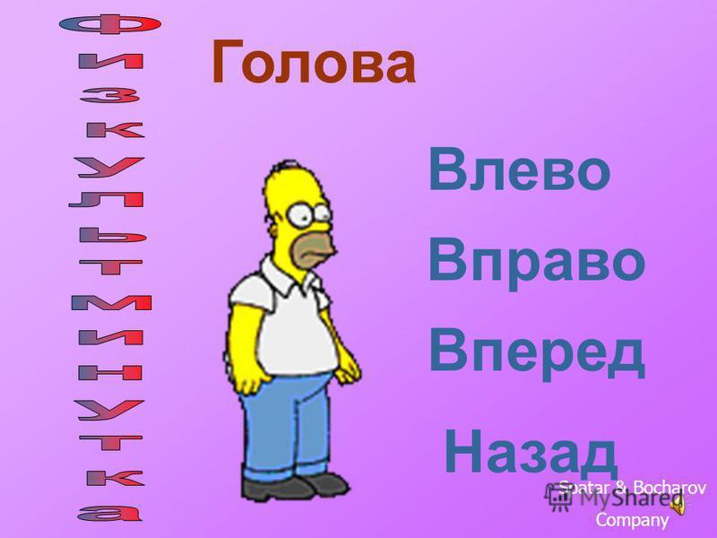 Голова Влево Вправо Вперед Назад Spatar & Bocharov Company