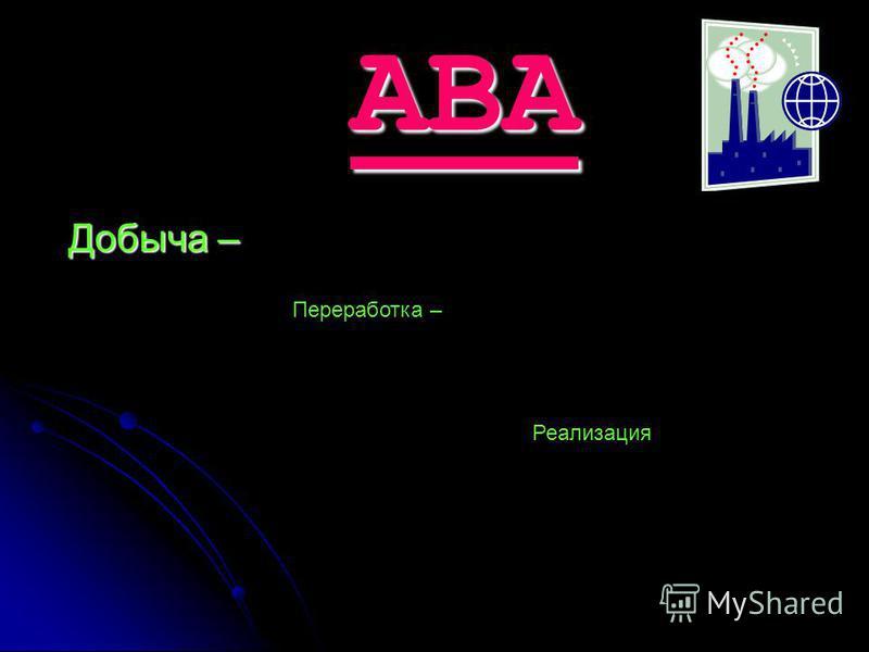 ABA Добыча – Переработка – Реализация