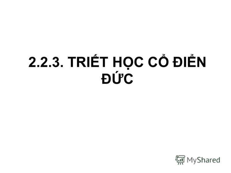2.2.3. TRIT HC C ĐIN ĐC
