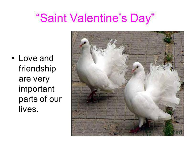 Saint Valentines Day Love and friendship are very important parts of our lives.