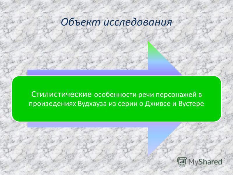 Объект исследования
