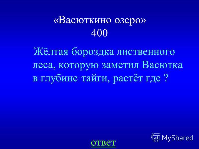 НАЗАД Решил не сдаваться «Васюткино озеро» 300