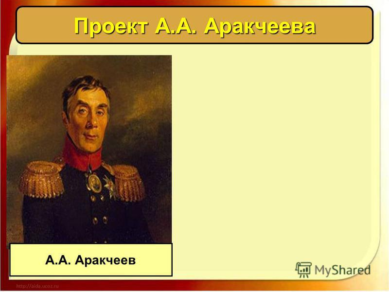 Проект А.А. Аракчеева А.А. Аракчеев