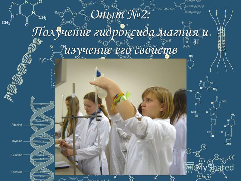 Опыт 2: Получение гидроксида магния и изучение его свойств