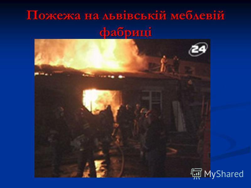 Пожежа на львівській меблевій фабриці