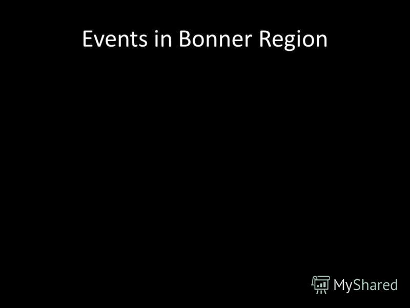 Events in Bonner Region