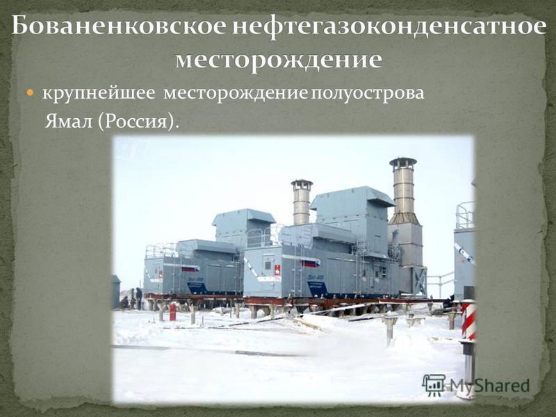 крупнейшее месторождение полуострова Ямал (Россия).
