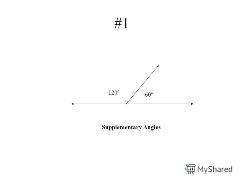 #1 60º 120º Supplementary Angles