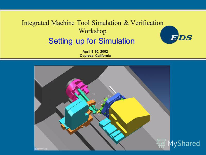 Integrated Machine Tool Simulation & Verification Workshop Setting up for Simulation April 9-10, 2002 Cypress, California