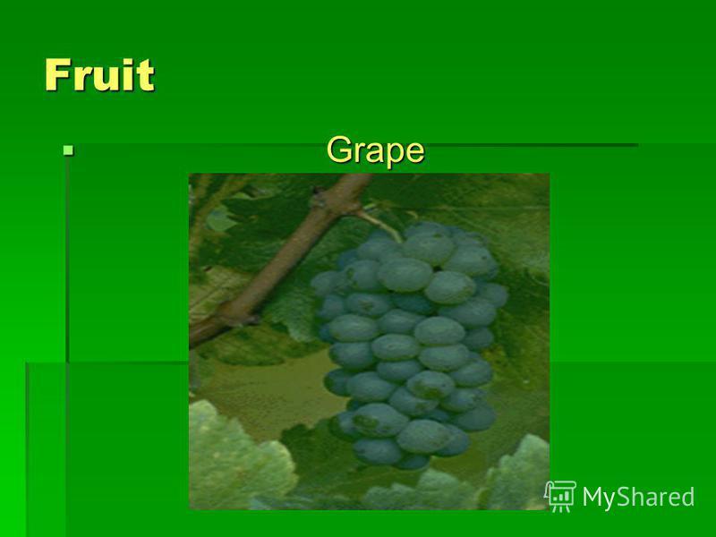 Fruit Grape Grape