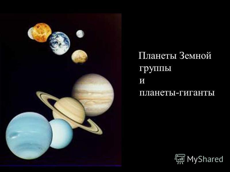 Планеты Земной группы и планеты-гиганты