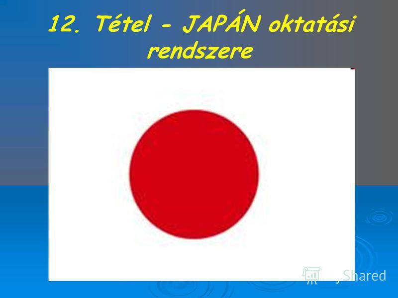 12. Tétel - JAPÁN oktatási rendszere