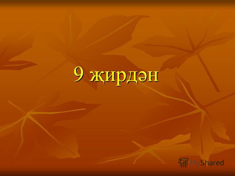 9 җирдән