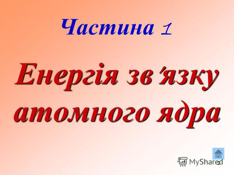 2 Енергія зв язку атомного ядра Частина 1