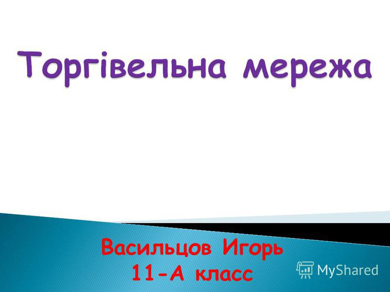Васильцов Игорь 11-А класс