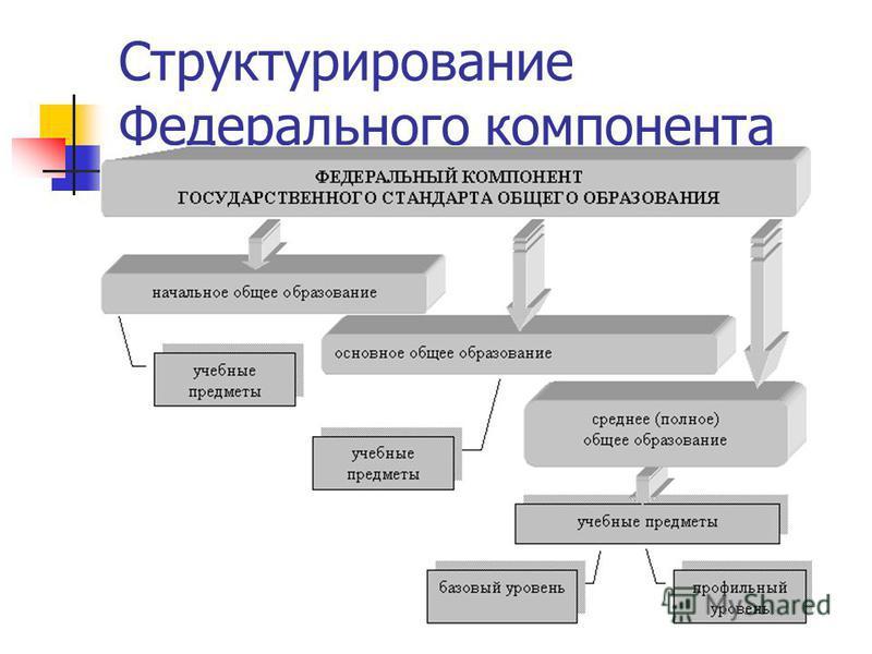 Структурирование Федерального компонента