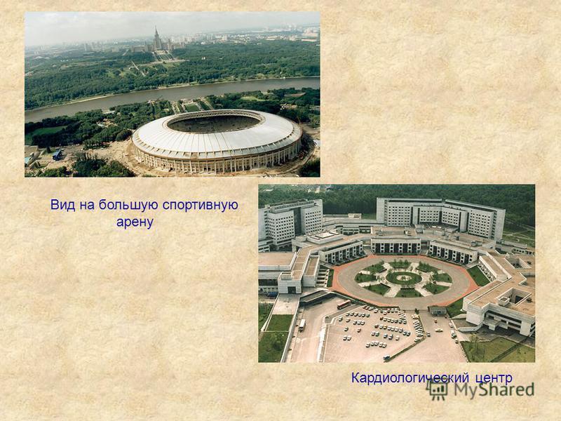 Вид на большую спортивную арену Кардиологический центр