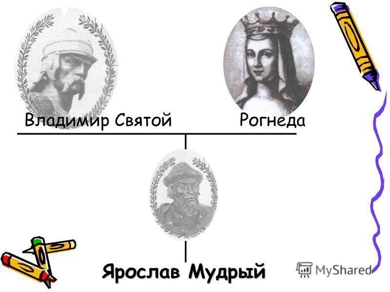 Владимир Святой Рогнеда Ярослав Мудрый