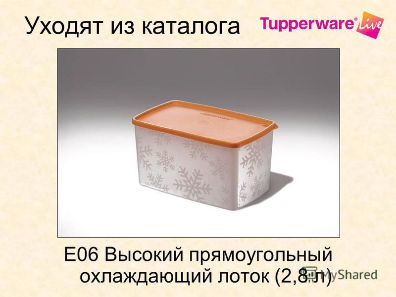 Уходят из каталога E06 Высокий прямоугольный охлаждающий лоток (2,8 л)