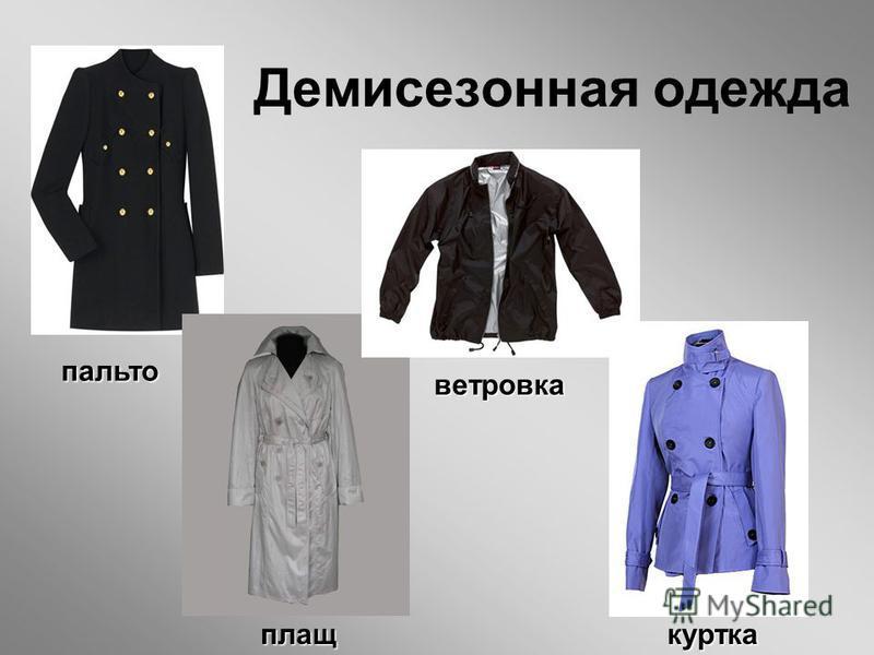 Демисезонная одежда пальто плащ ветровка куртка