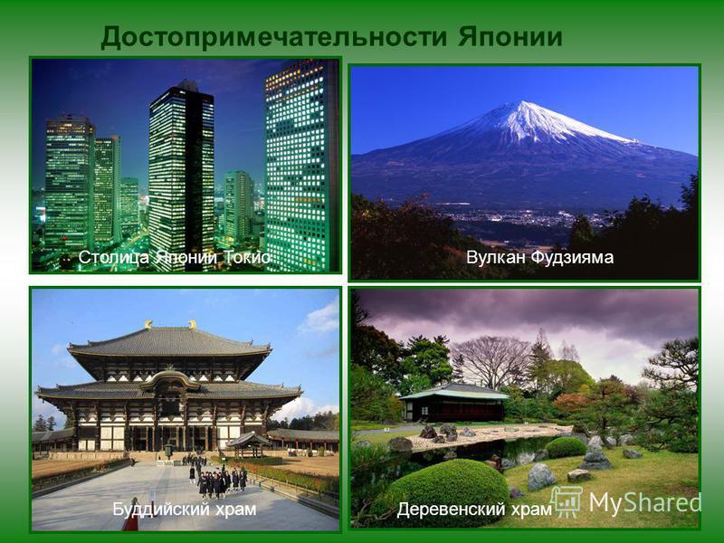 Вулкан Фудзияма Столица Японии Токио Достопримечательности Японии Буддийский храм Деревенский храм