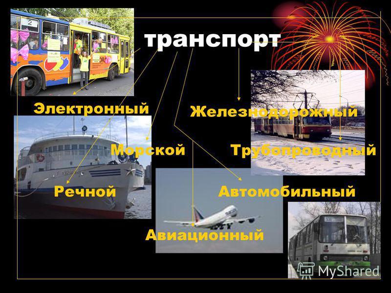 транспорт Речной Автомобильный Авиационный Железнодорожный Электронный Морской Трубопроводный