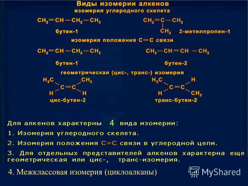 4. Межклассовая изомерия (циклоалканы) 4