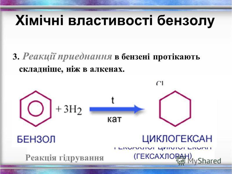 2. Реакції заміщення б) реакція нітрування – взаемодія з нітратною кислотою. Хімічні властивості бензолу. Нітробензен – вихідна речовина для оримання аніліну.