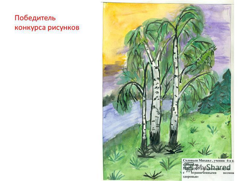 Победитель конкурса рисунков