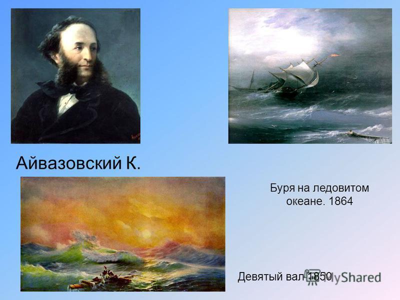 Айвазовский К. Буря на ледовитом океане. 1864 Девятый вал 1850