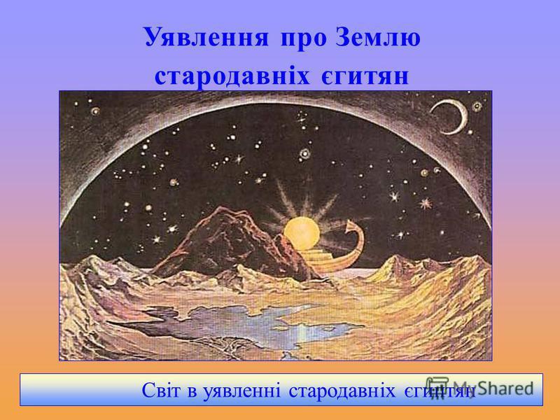 Уявлення про Землю стародавніх єгитян Світ в уявленні стародавніх єгиптян