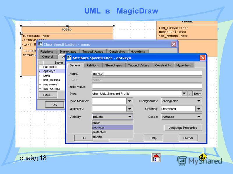 UML в MagicDraw слайд 18