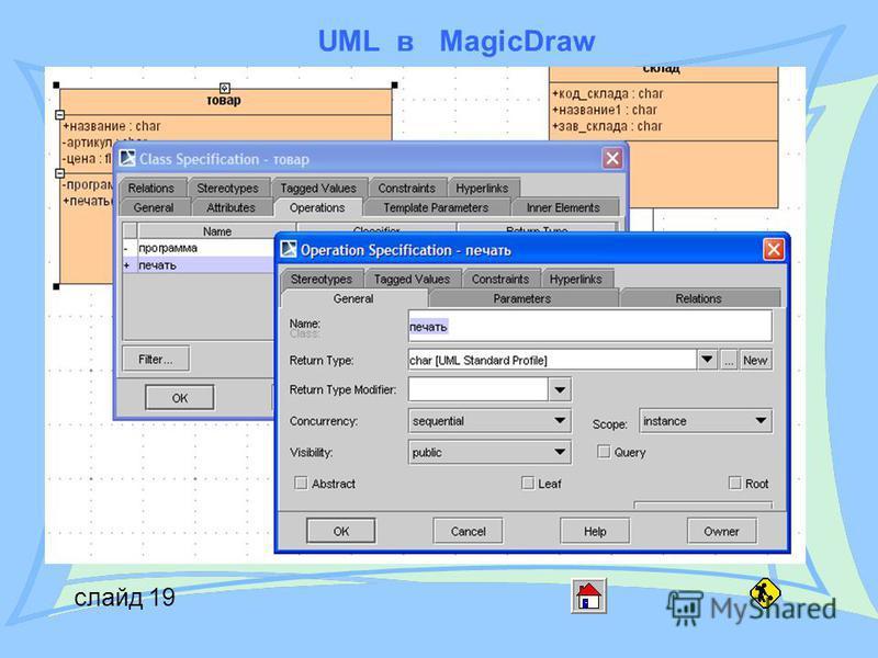 UML в MagicDraw слайд 19