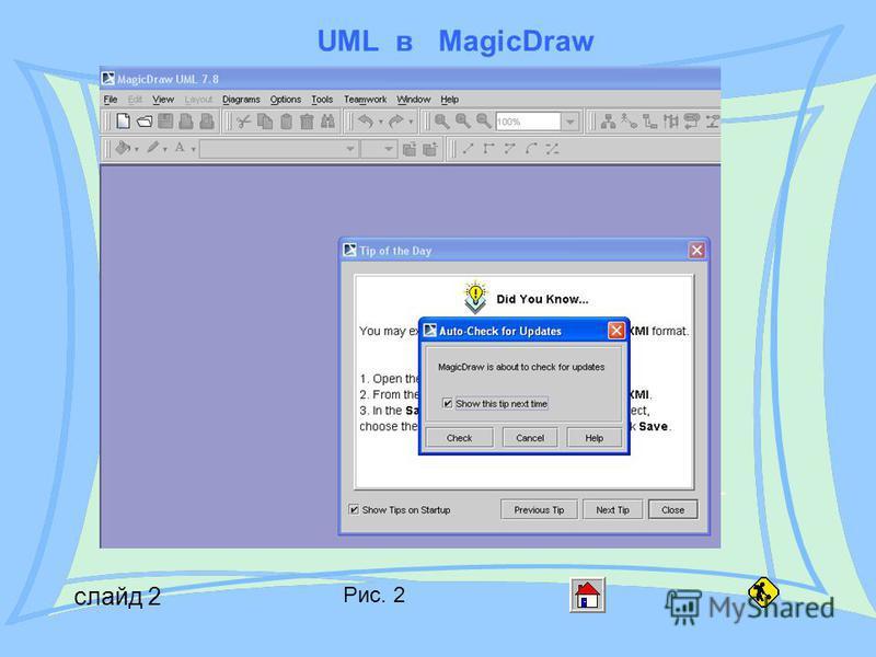 UML в MagicDraw слайд 2 Рис. 2