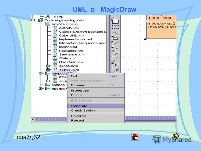 UML в MagicDraw слайд 32