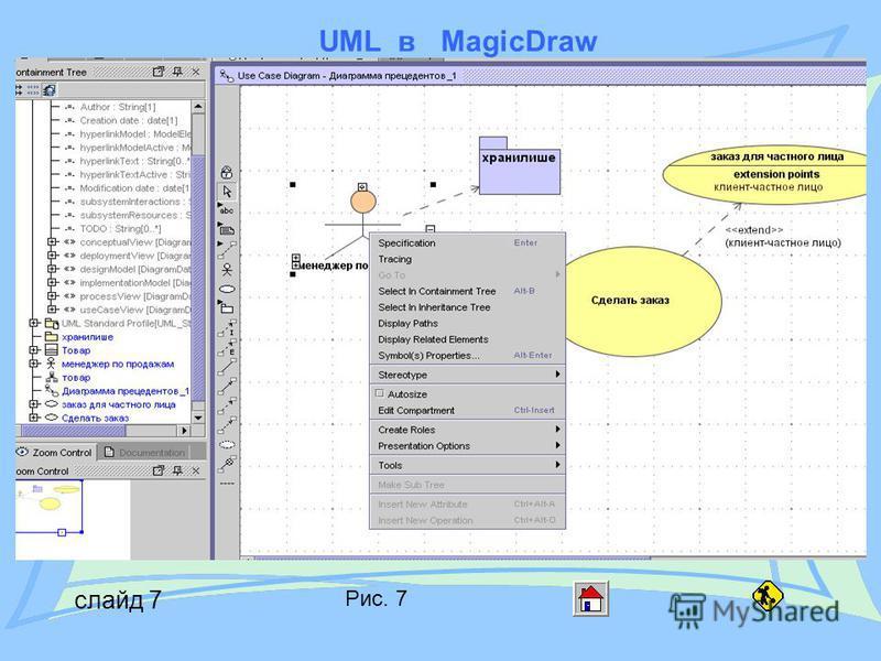 UML в MagicDraw слайд 7 Рис. 7