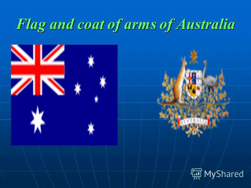 Flag and coat of arms of Australia