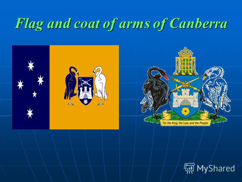 Flag and coat of arms of Canberra
