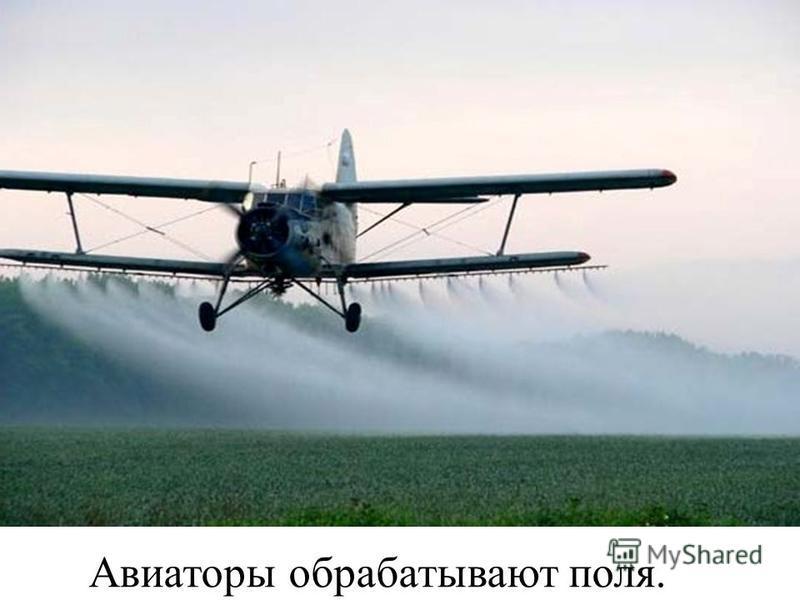 Авиаторы обрабатывают поля.