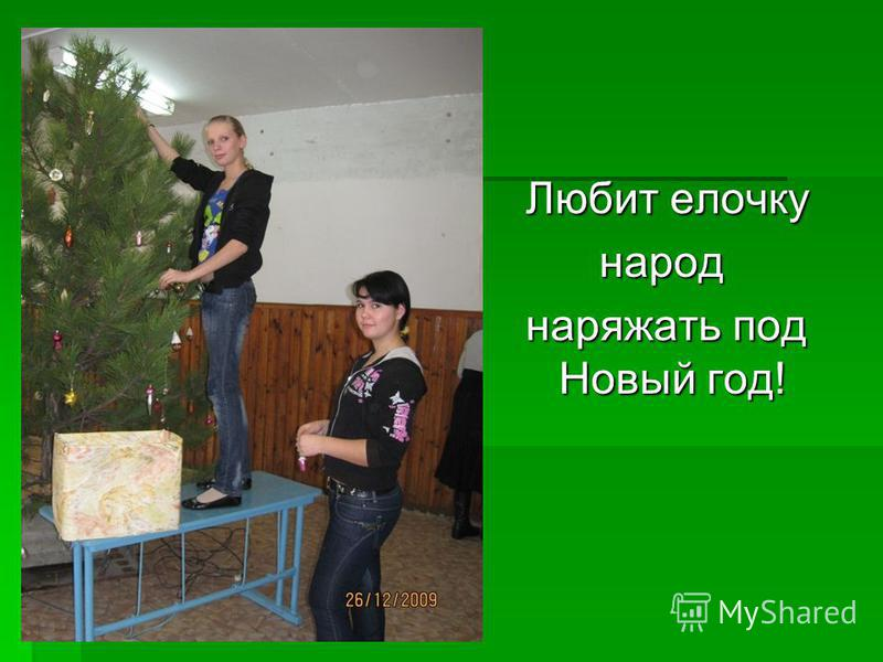 Любит елочку народ народ наряжать под Новый год!